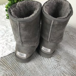 UGG Gray Winter Boots Size 8